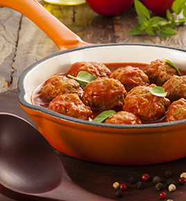 Frozen Fully Cooked Beef Meatballs