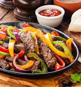 Frozen IQF Fully Cooked Beef  Skirt Steak Fajitas