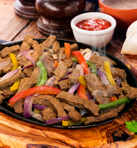 Frozen IQF Fully Cooked Seasoned Beef Steak Fajitas